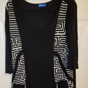 Black/white tunic XL